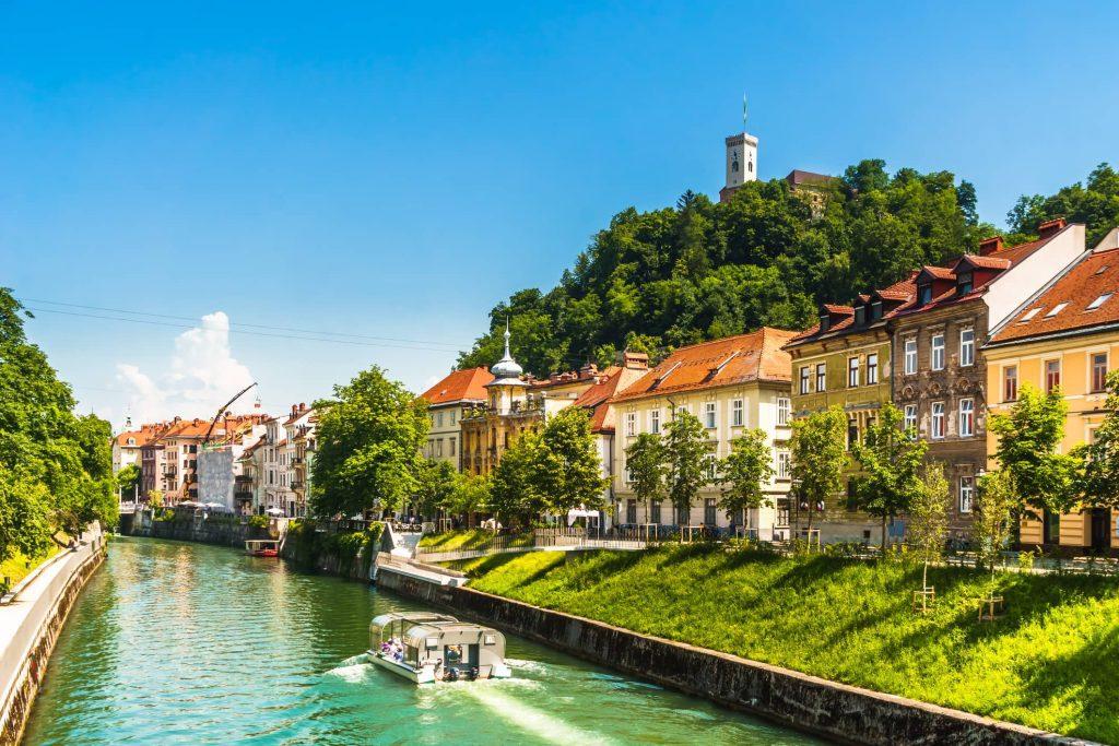 Ljubljana and Ljubljanica river